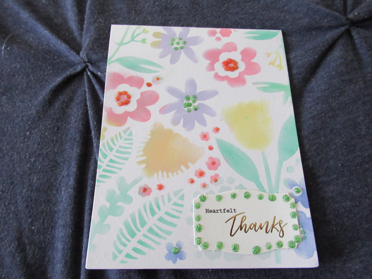 Distress ink with a simple stencil makes a delightful notecard