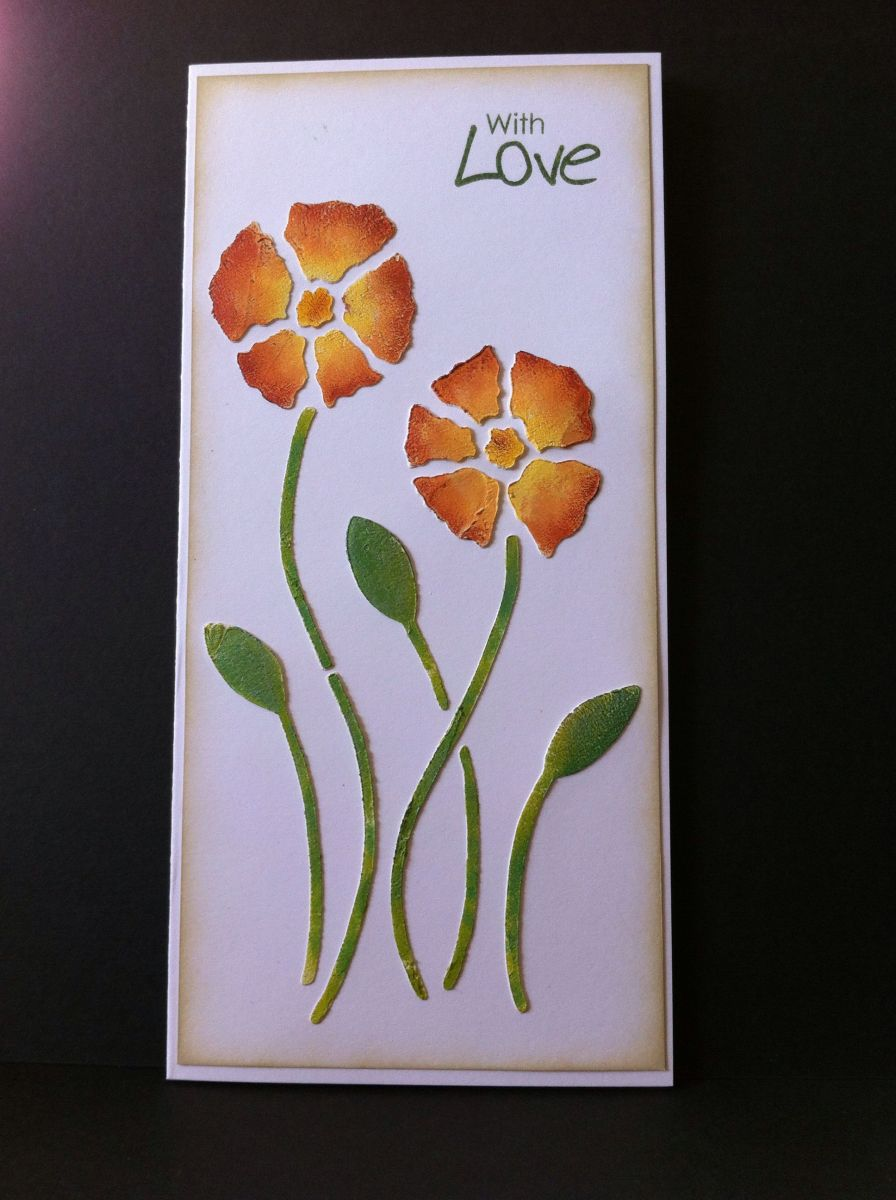 Paint can be used effectively to create a stunning greeting card