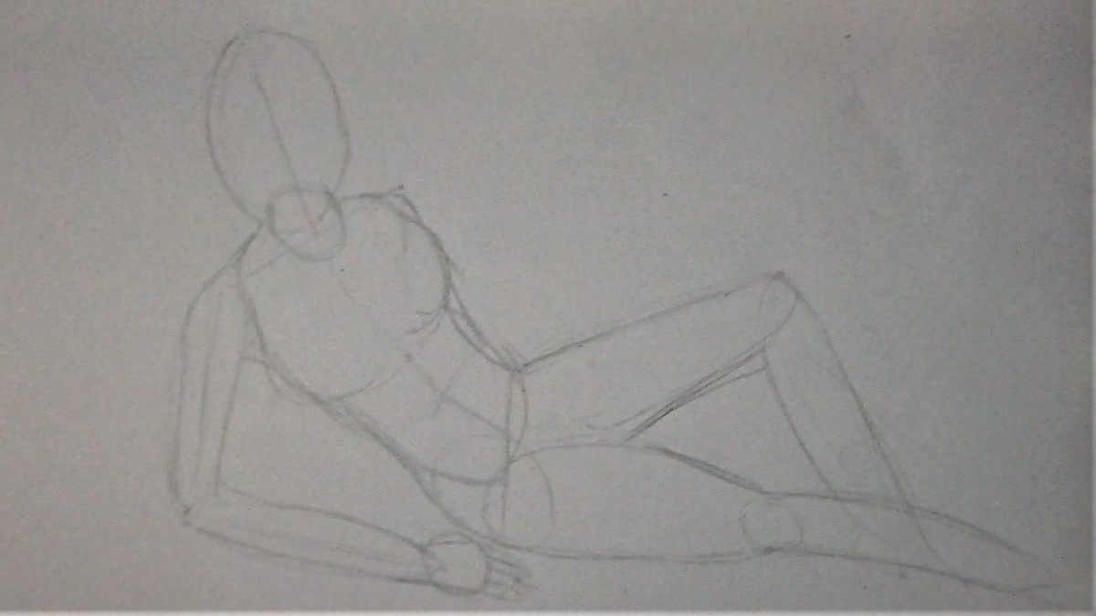 Rough outline of the body and pose.
