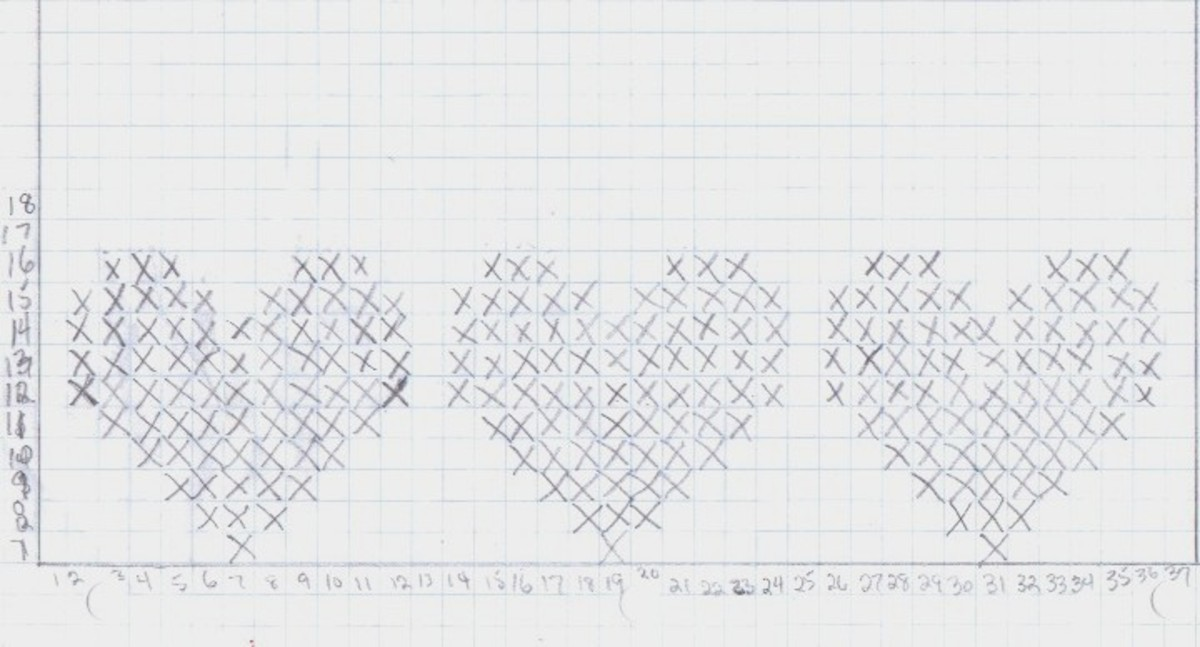 This is how I graphed out a 3 heart pattern.