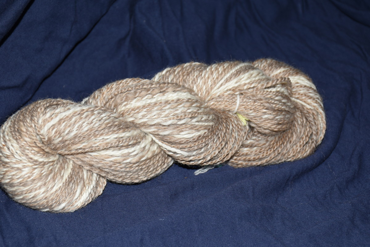 A skein of hand spun wool. (Not from the Ewe to You challenge)