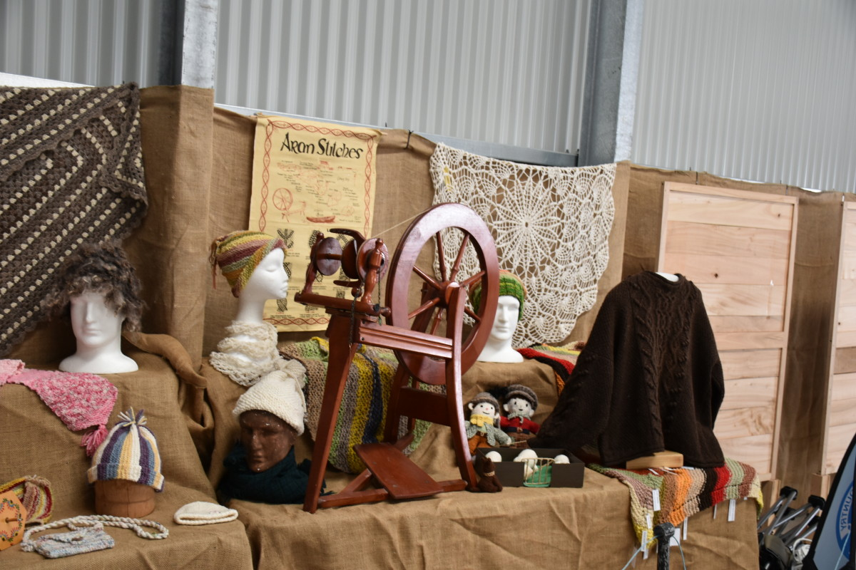 Part of the display of hand spun products