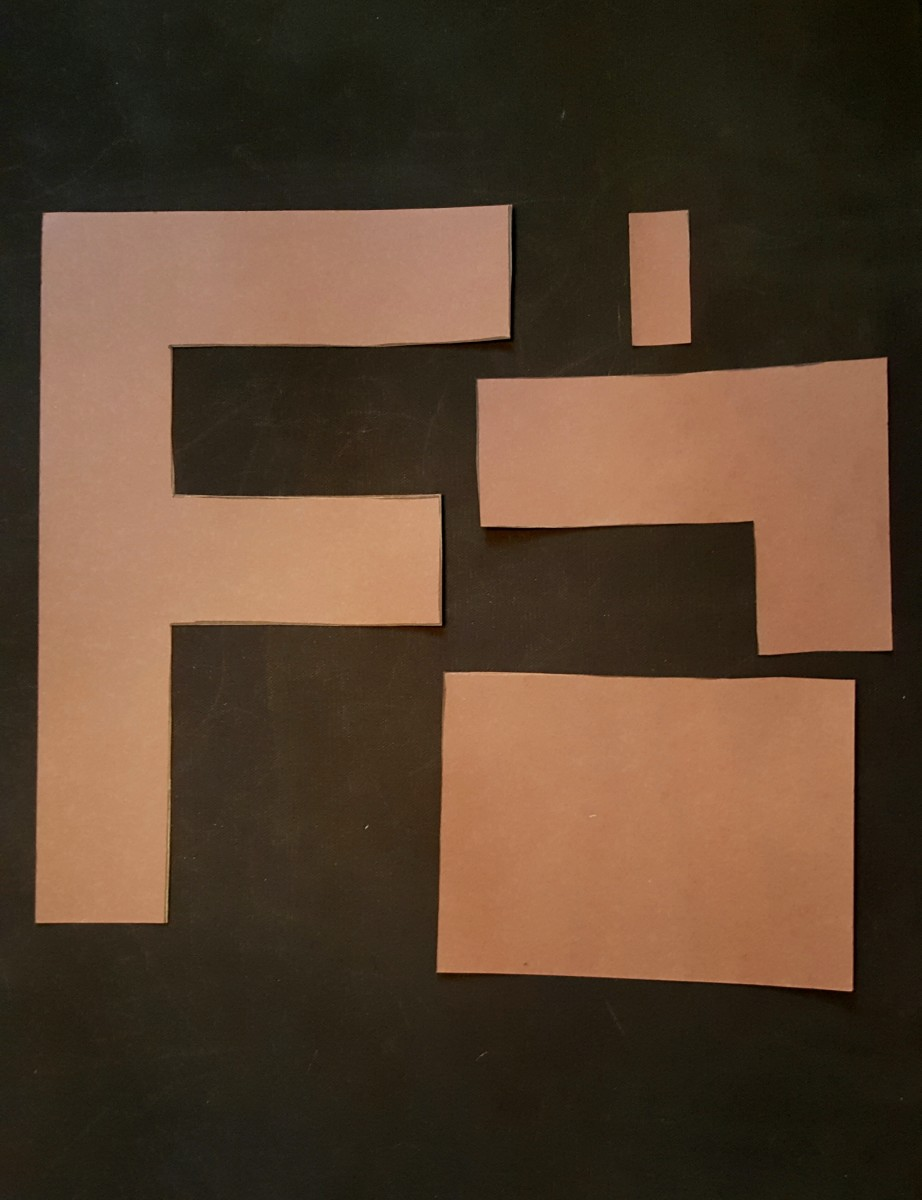 "Finished ""F"" Cut Out"
