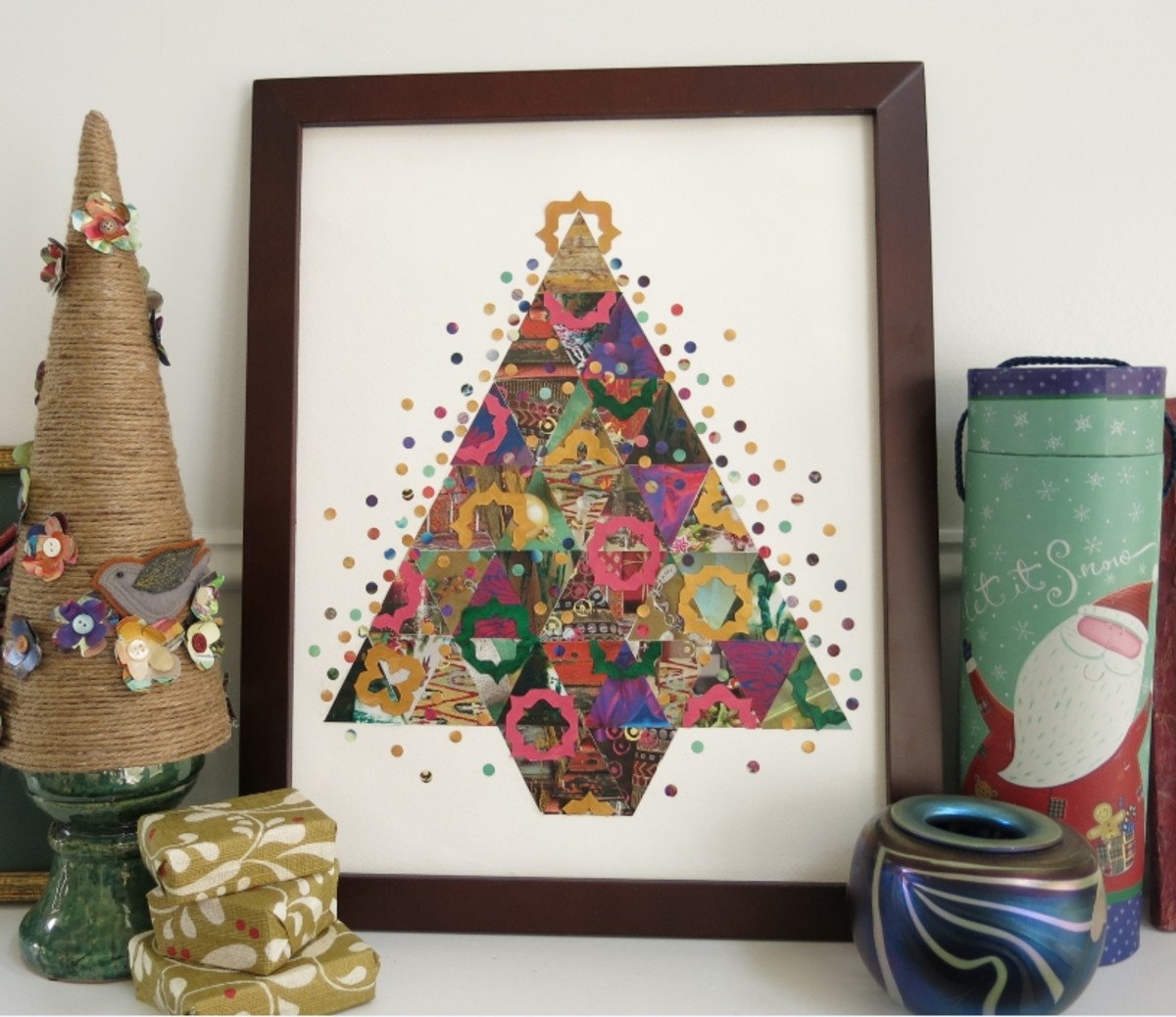 Paper Patchwork Christmas Tree