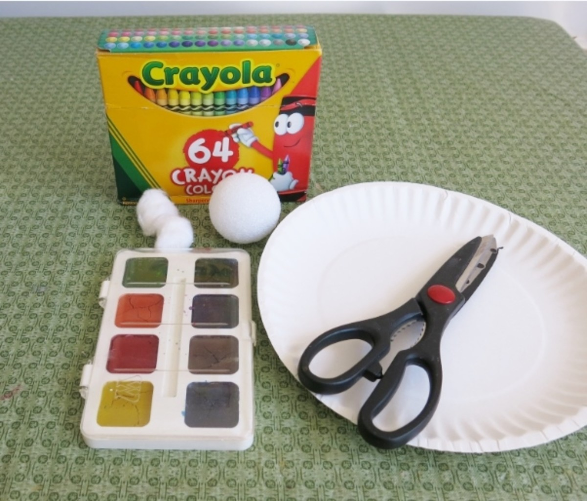 Materials for Making a Paper Plate Easter Bunny Figure