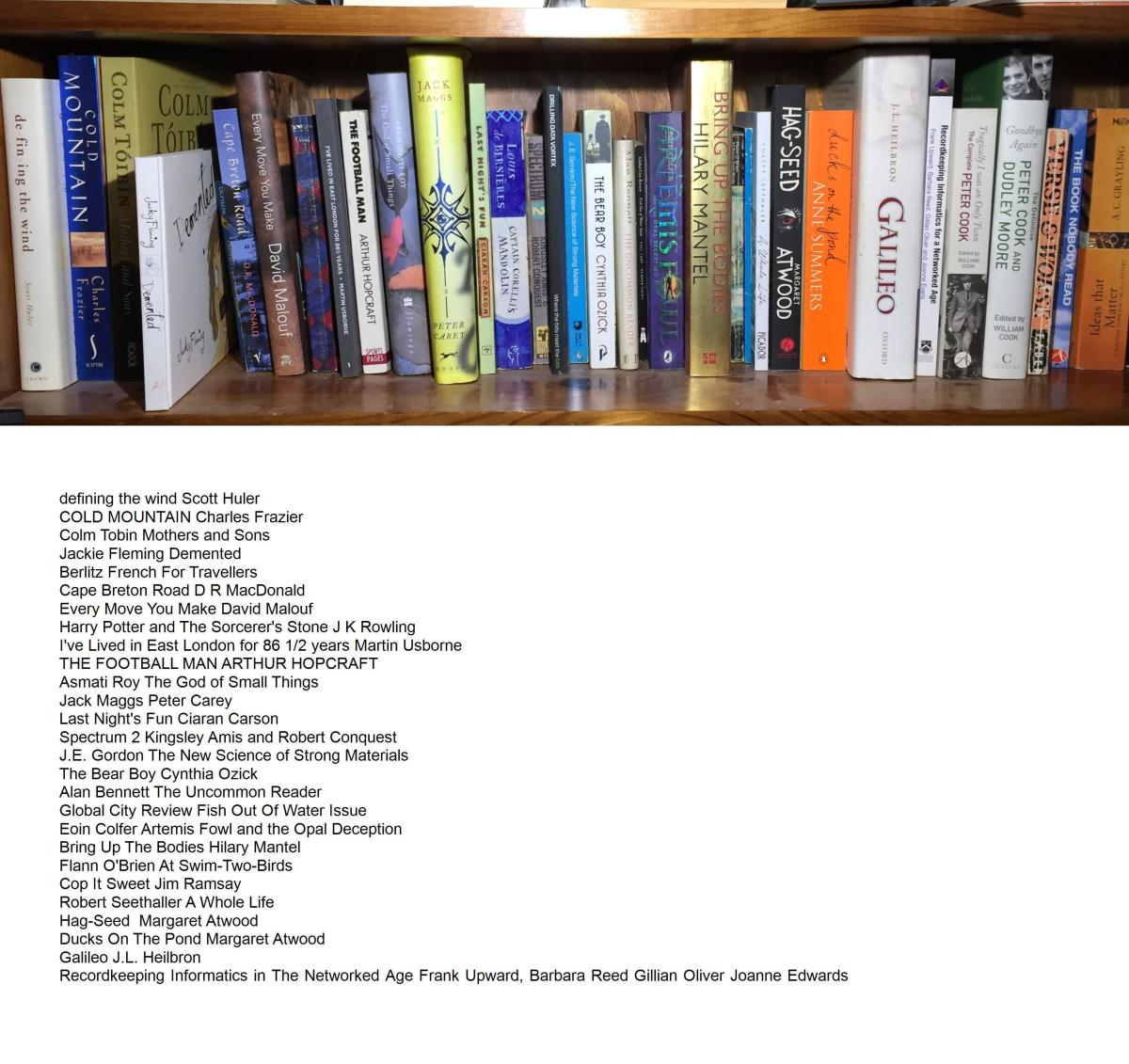 Shelf image with text added to image by Caption Pro