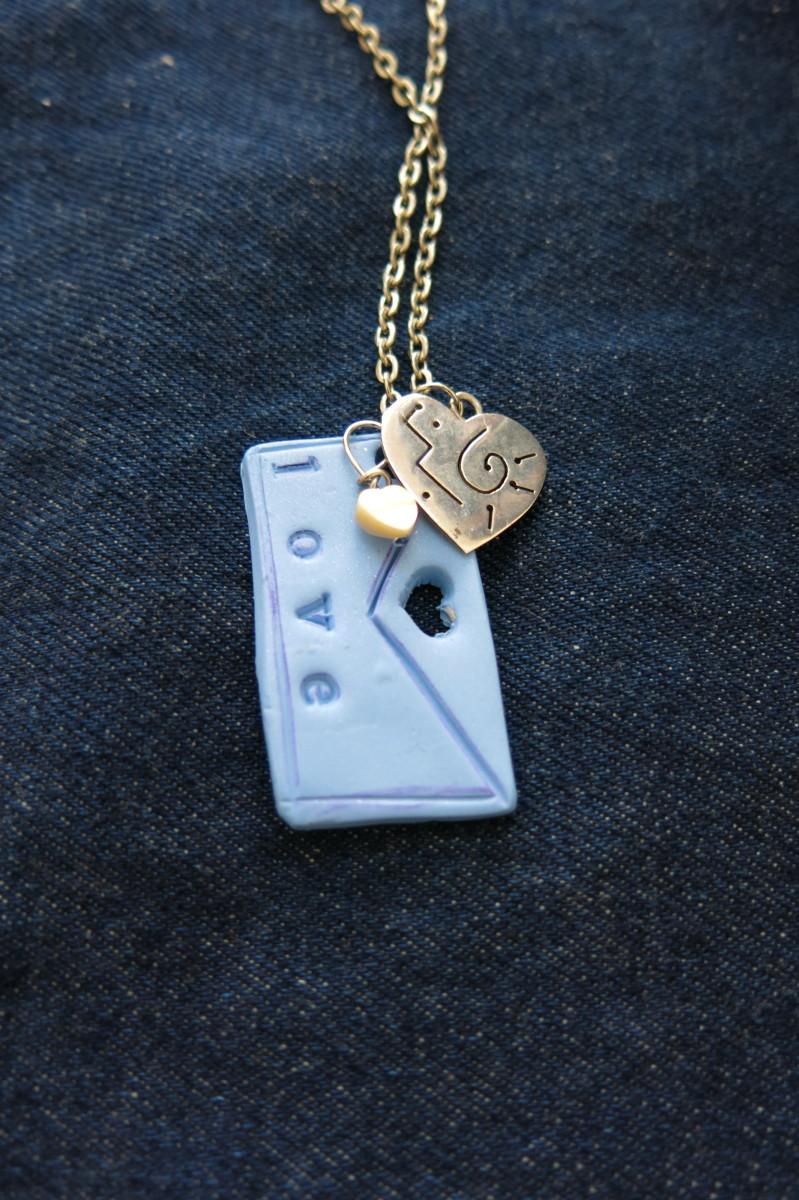 """Finished """"love Letter"""" pendant"""