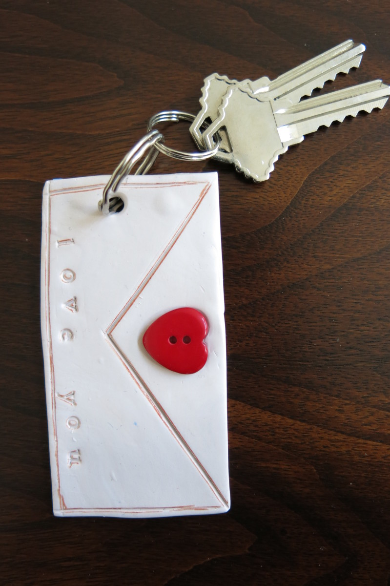 "DIY Polymer Clay ""Love Letter"" Key Holder"