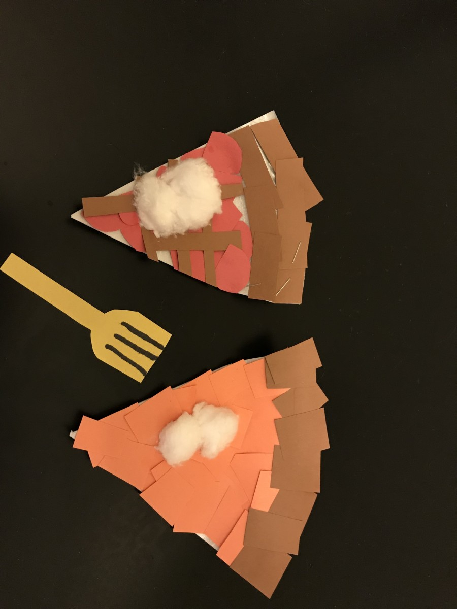 The way these pieces of pie turned out kind of made me hungry!