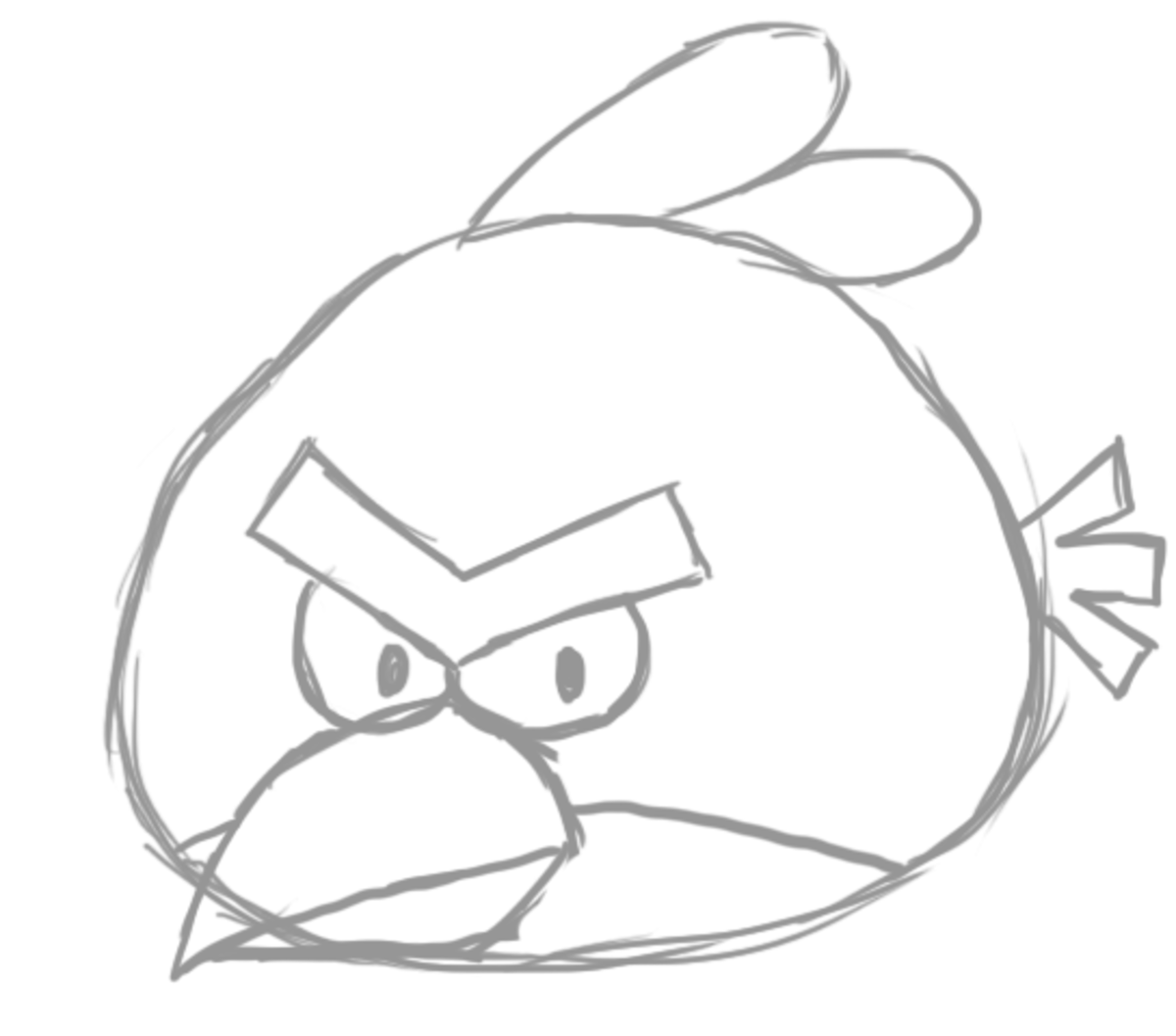 How To Draw Angry Birds Feltmagnet