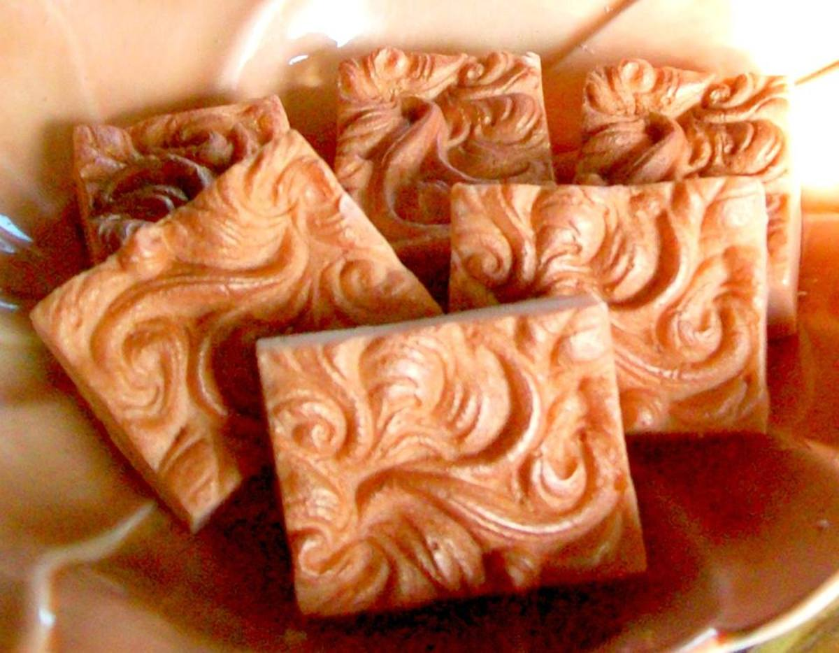 Another shampoo bar made with Liz Ardlady's formula: Scented with ylang-ylang and orange essential oils.
