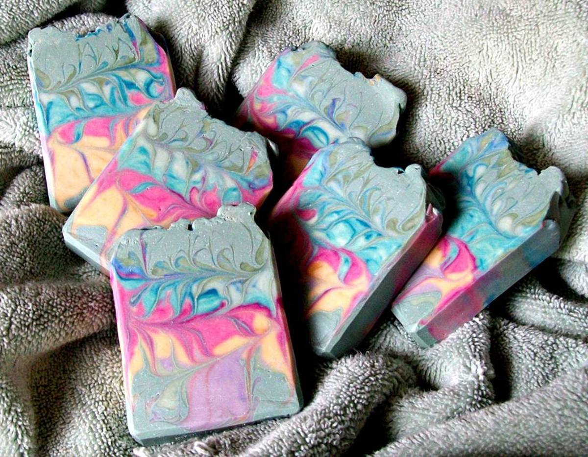 Honey Patchouli Soap, Made with Soap #3 Recipe