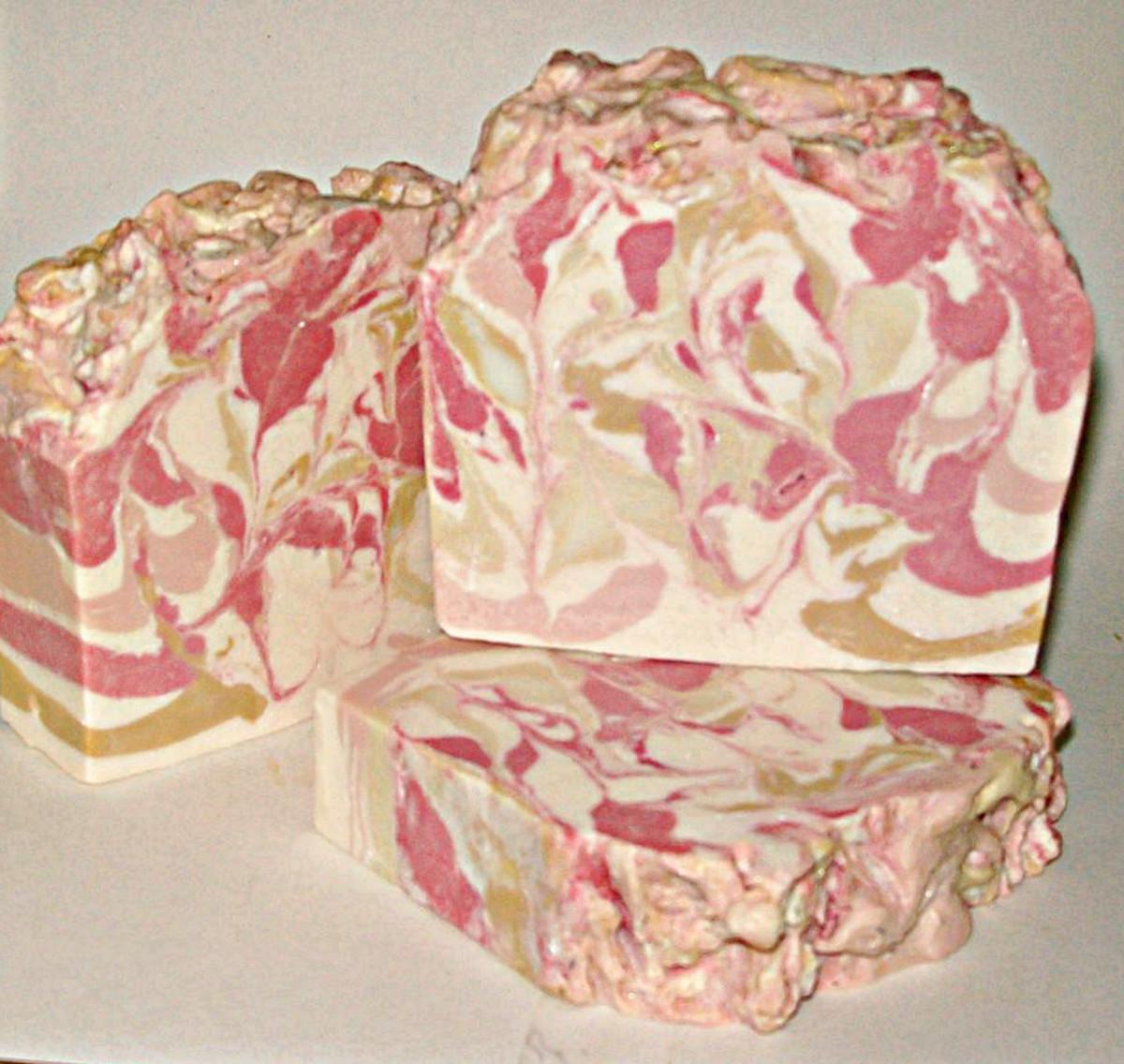 Ylang-Ylang Soap, Made with Recipe #4.