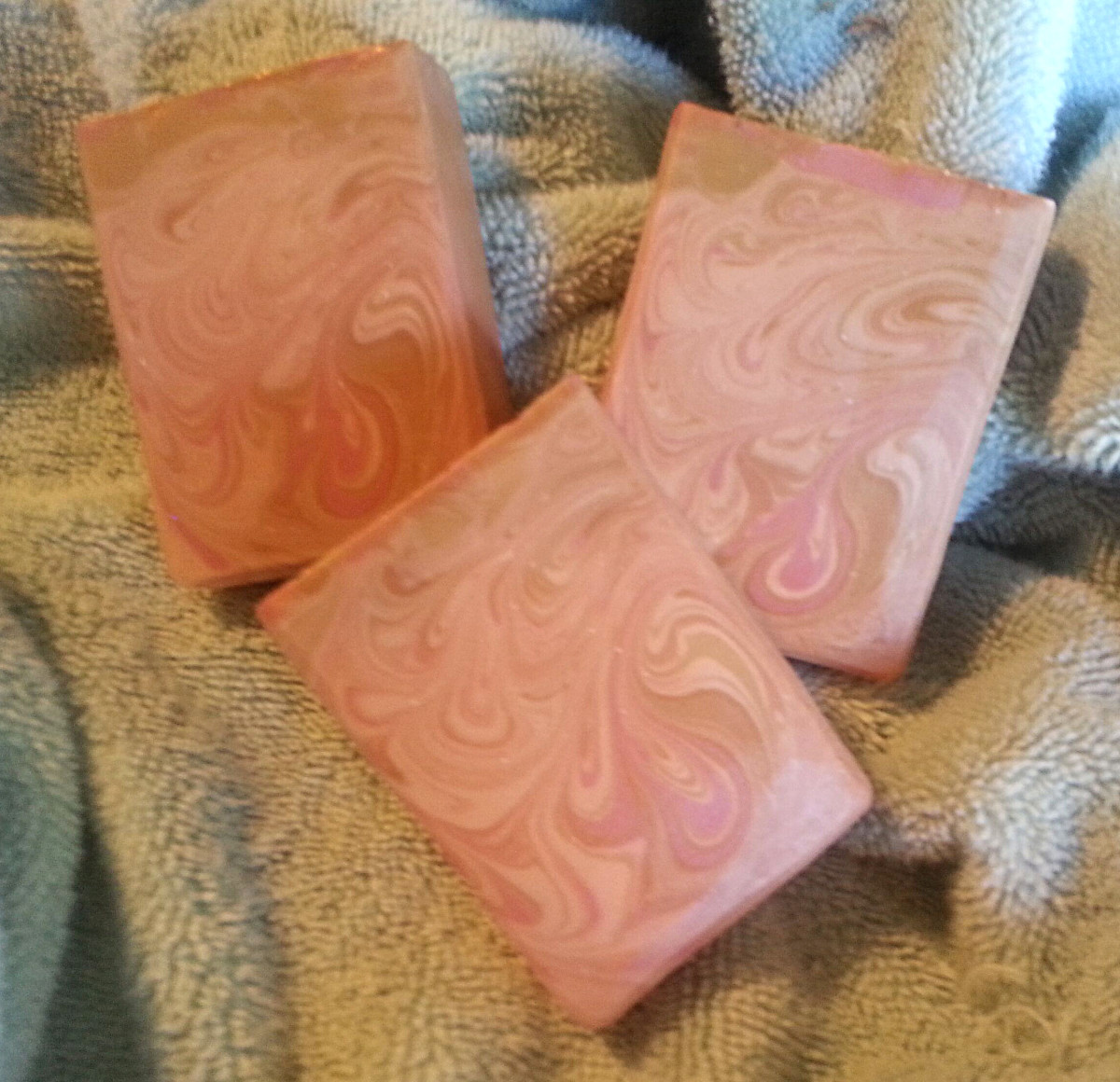 A soap made using the Avocado Oil Recipe, scented with Queen of the Nile from Nature's Garden