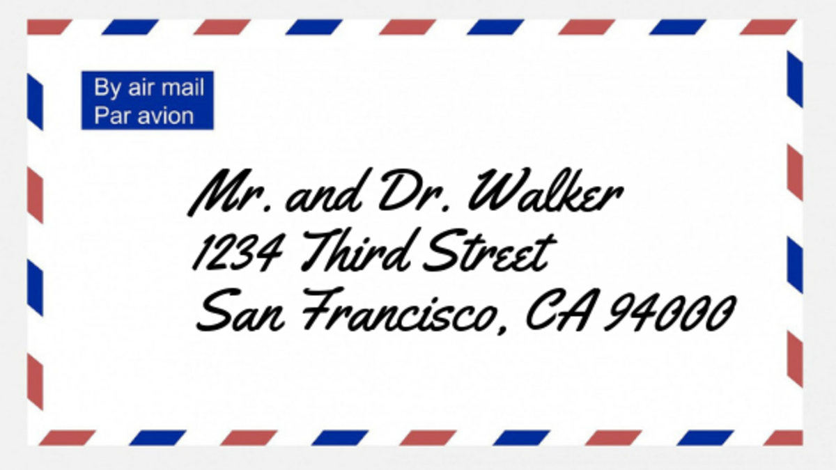 How to address an envelope to a doctor.
