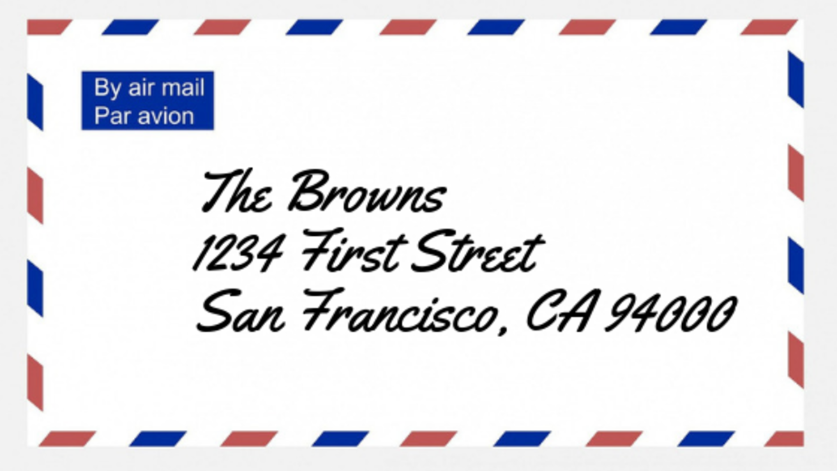 The correct way to address an envelope!