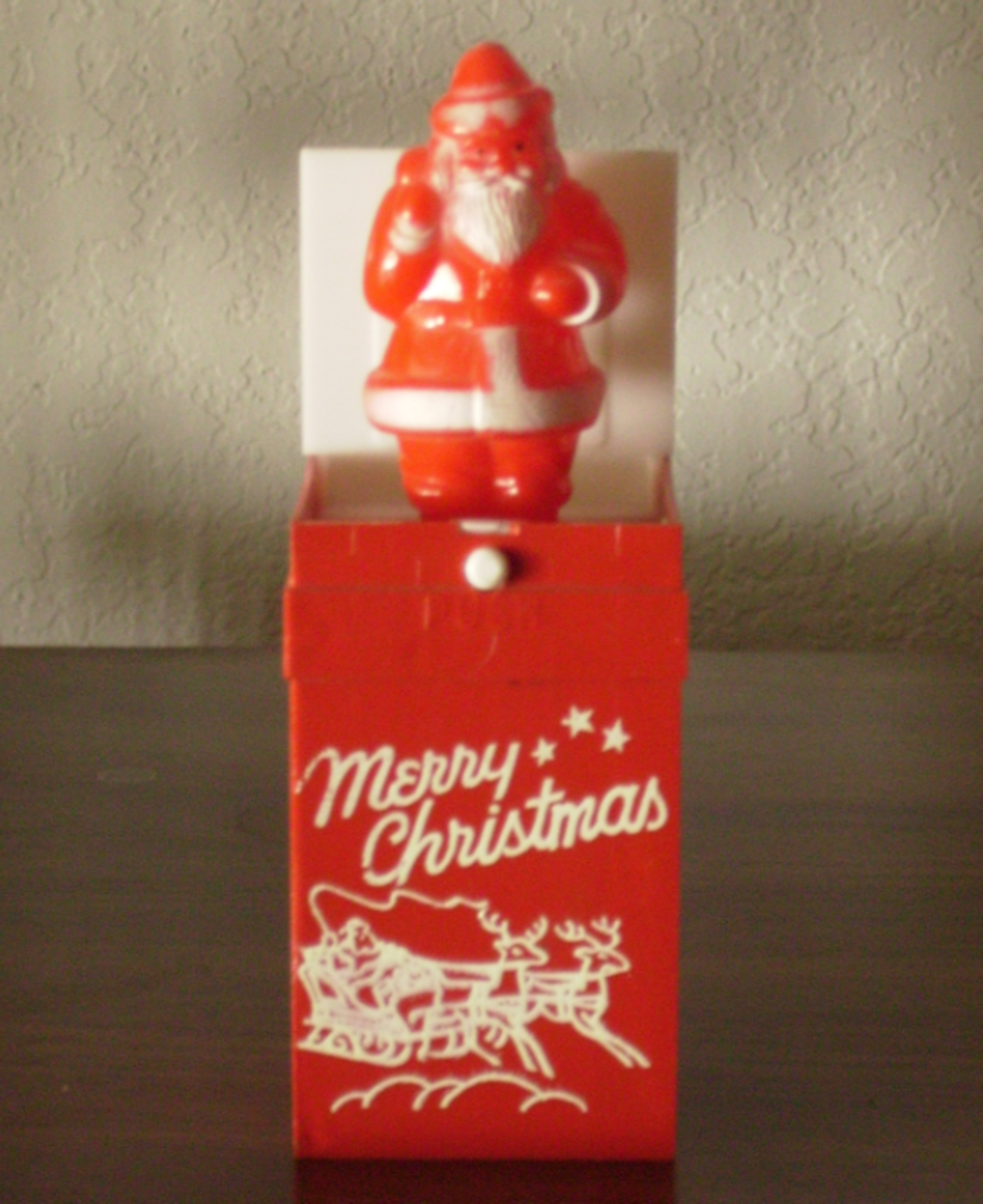 A Santa Claus Jack-in-the-Box