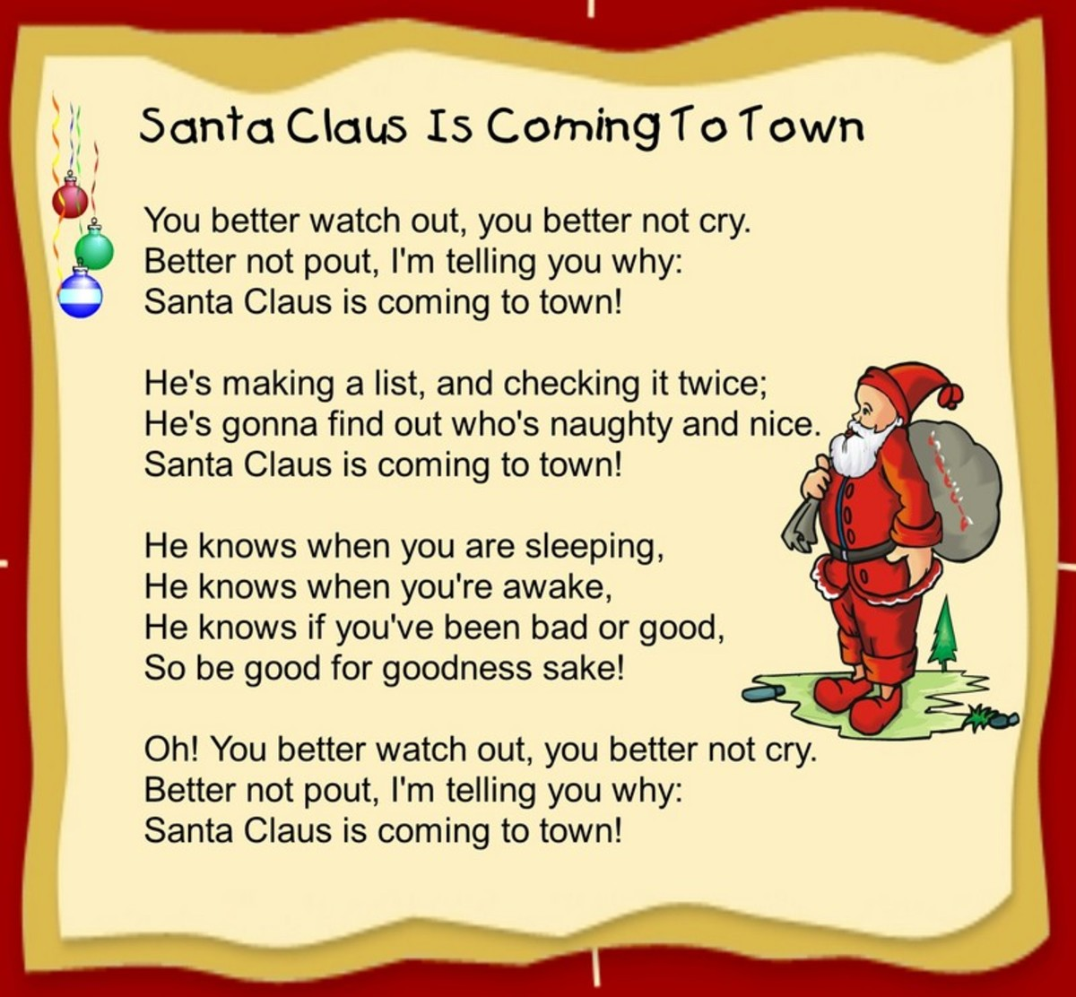 Sant Claus is Coming to Town