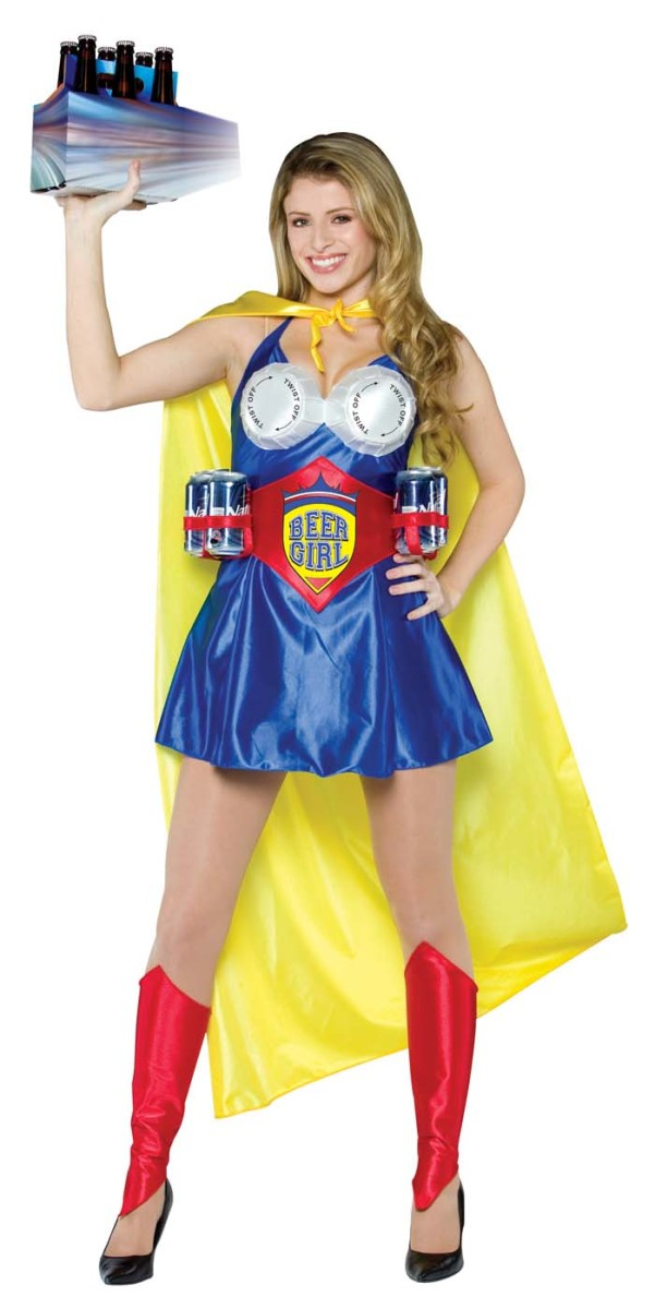 Costume ideas starting with the letter b holidappy beer girl this is a novelty costume designed to look like a superhero but in this case the wearer is coming to the rescue of poor men who are desperate solutioingenieria