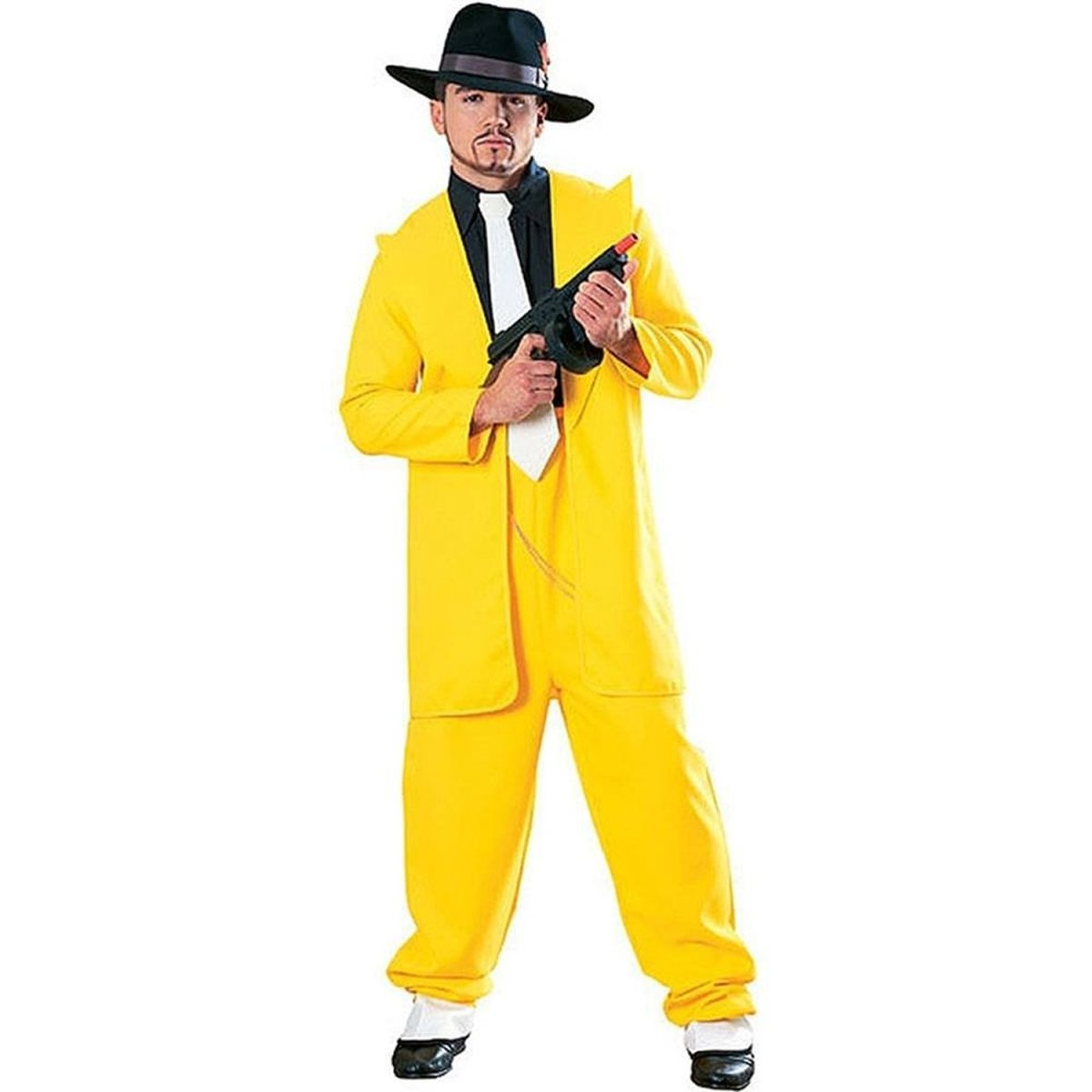 Add a green mask to the yellow zoot suit, and you've got Jim Carrey's getup from The Mask!