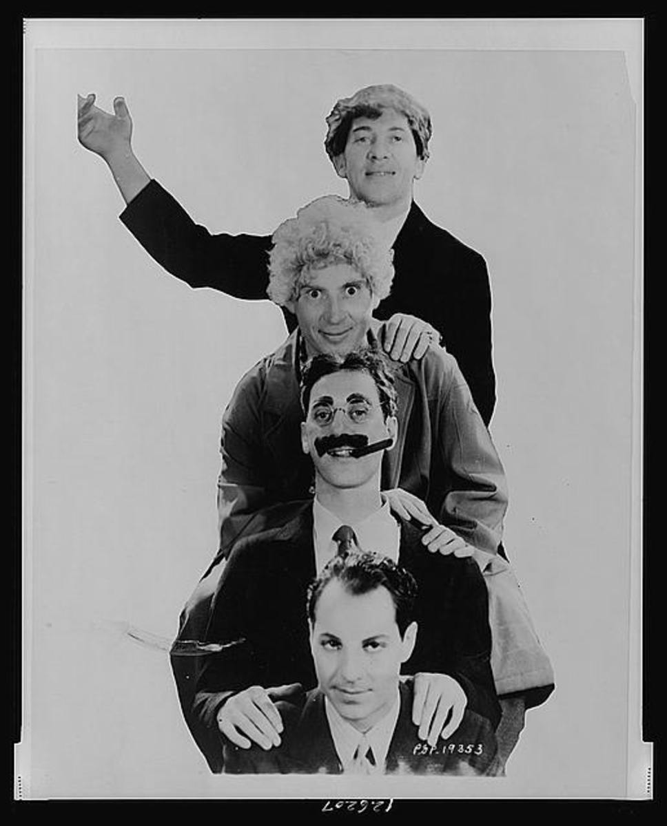 All four Marx brothers