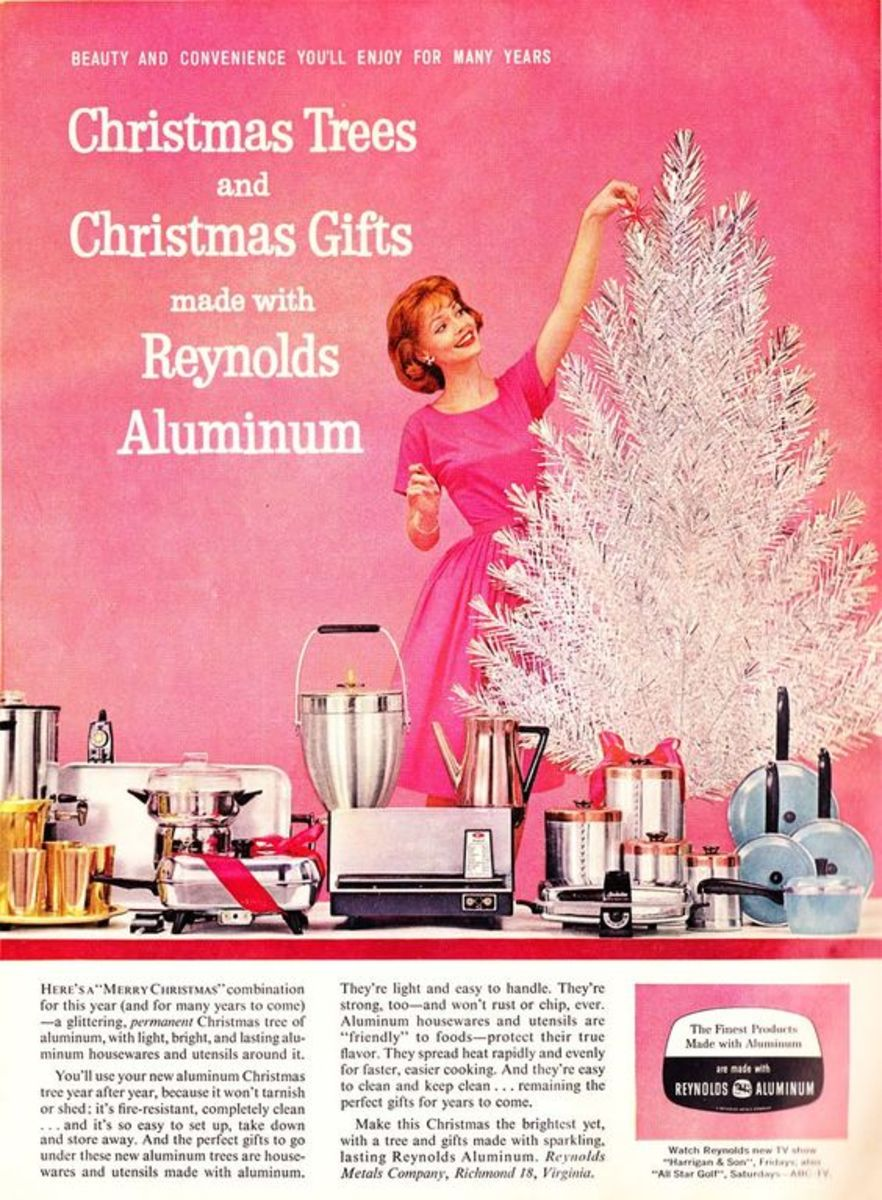 Vintage Ad for Reynolds Aluminum Christmas Tree