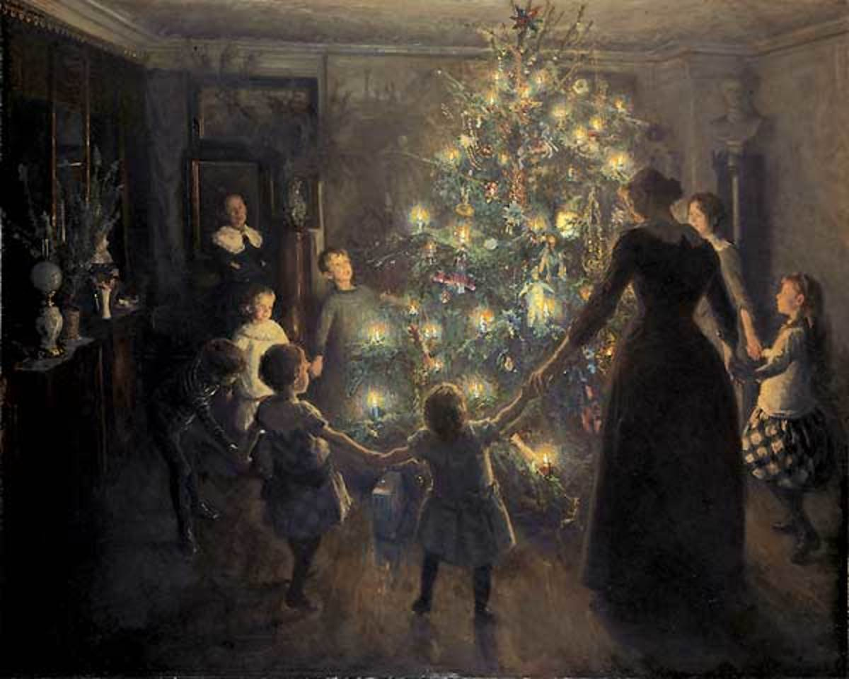 'Glade Jul' by Viggo Johansen, 1891. Image courtesy of Wiki Commons