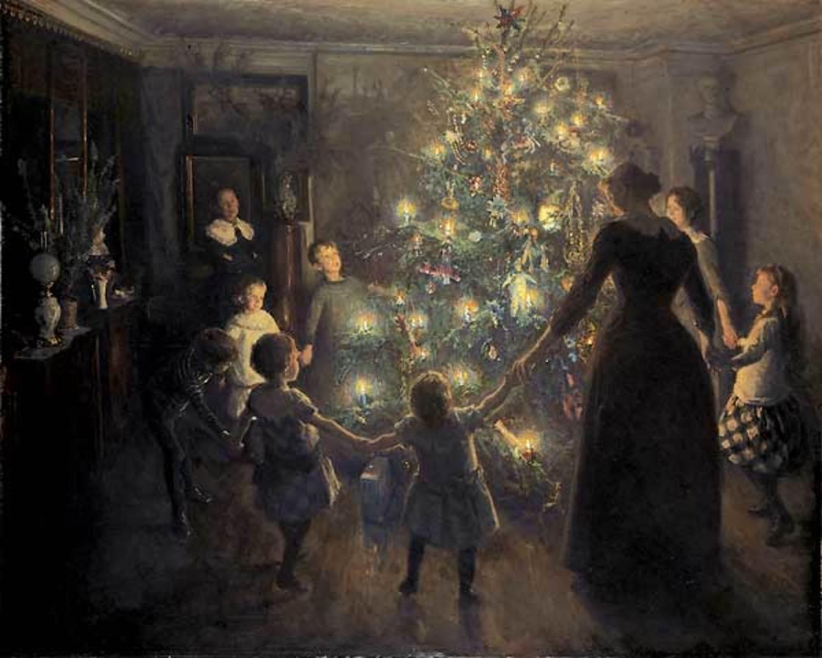 'Glade Jul' by Viggo Johansen, 1891. Image courtesy of Wiki Commons