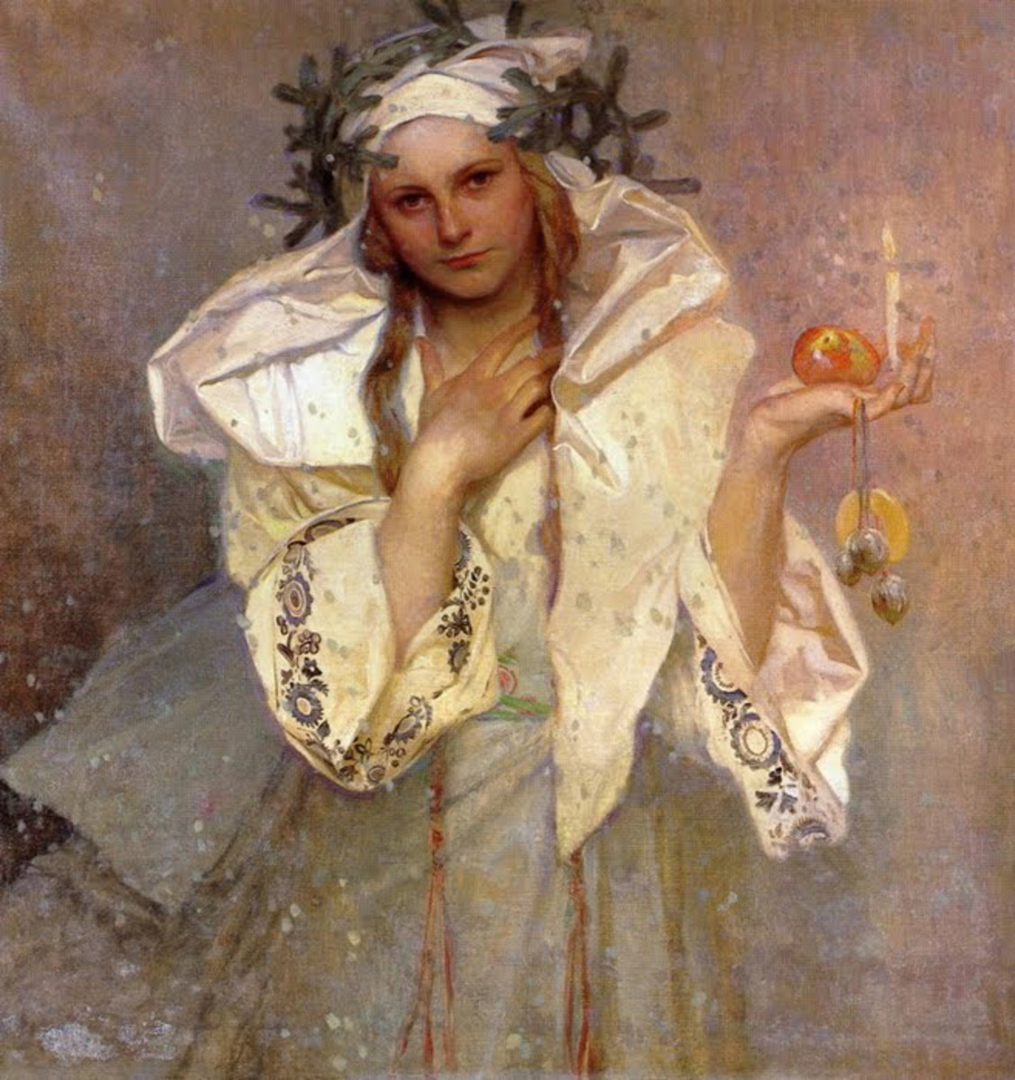 Christmas in America by Alphonse Mucha (1919)