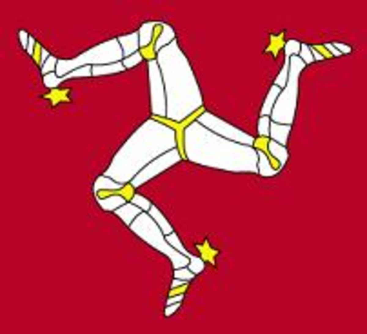 Manx Flag - a triskelion.