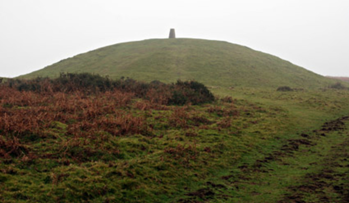 Beacuse of th emarker set atop the ancient burial mound, Garth is known as 'the mountain with a nipple on the top.'