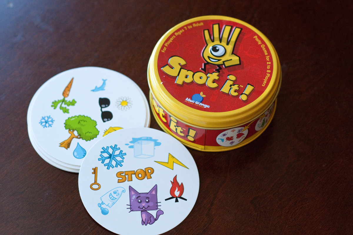 "The card game ""Spot it."""
