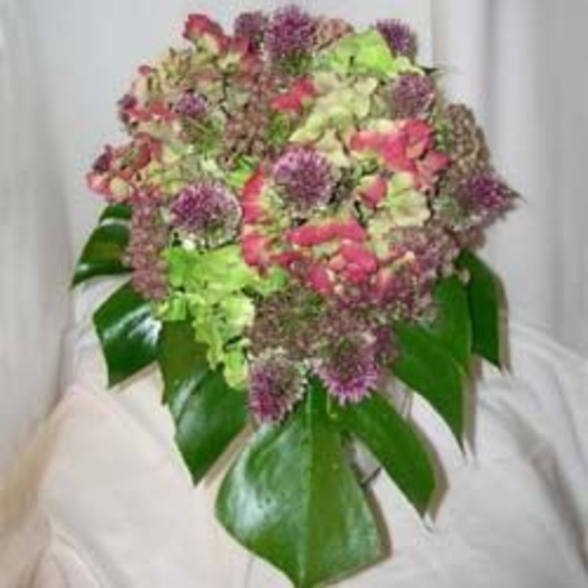 A late spring bridal bouquet crafted by the author