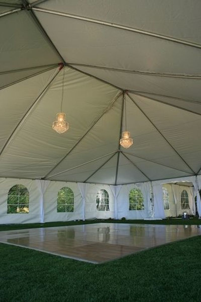 I need to make a lens just about tent lighting. Lighting is #89 on everybody's list when they're event planning, but it's the #1 way to add atmosphere to a party.