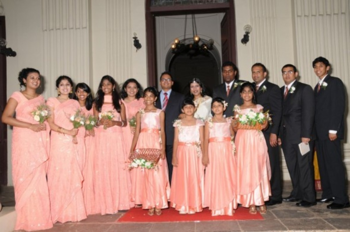 My nephew's wedding: The bridesmaids, groomsmen, and the flower girls are my nieces, nephews, or children.