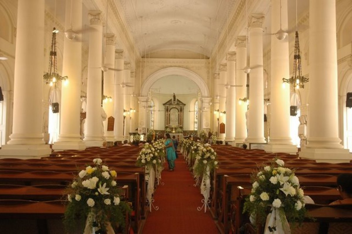 St. George's Cathedral in Chennai, S. India, where my sisters ,my nephews, nieces, and even my husband and myself got married!