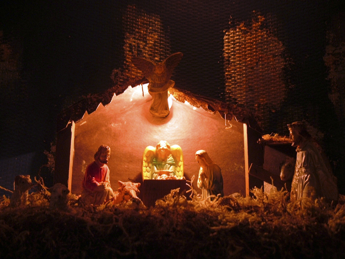 The crèche (or nativity scene) is a common sight in France during the holiday season