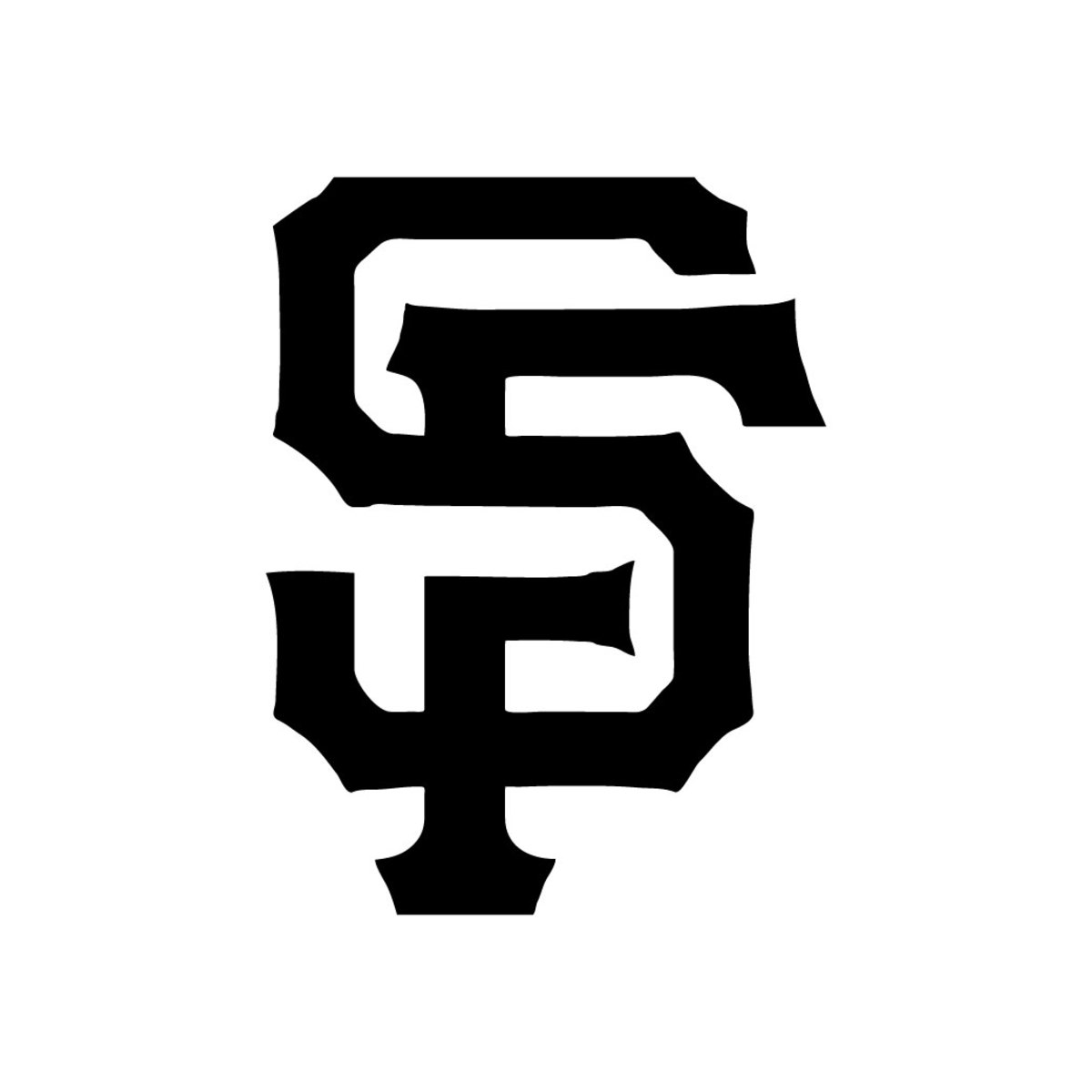 Here is a pumpkin template to carve the logo for San Francisco's baseball team, the Giants.