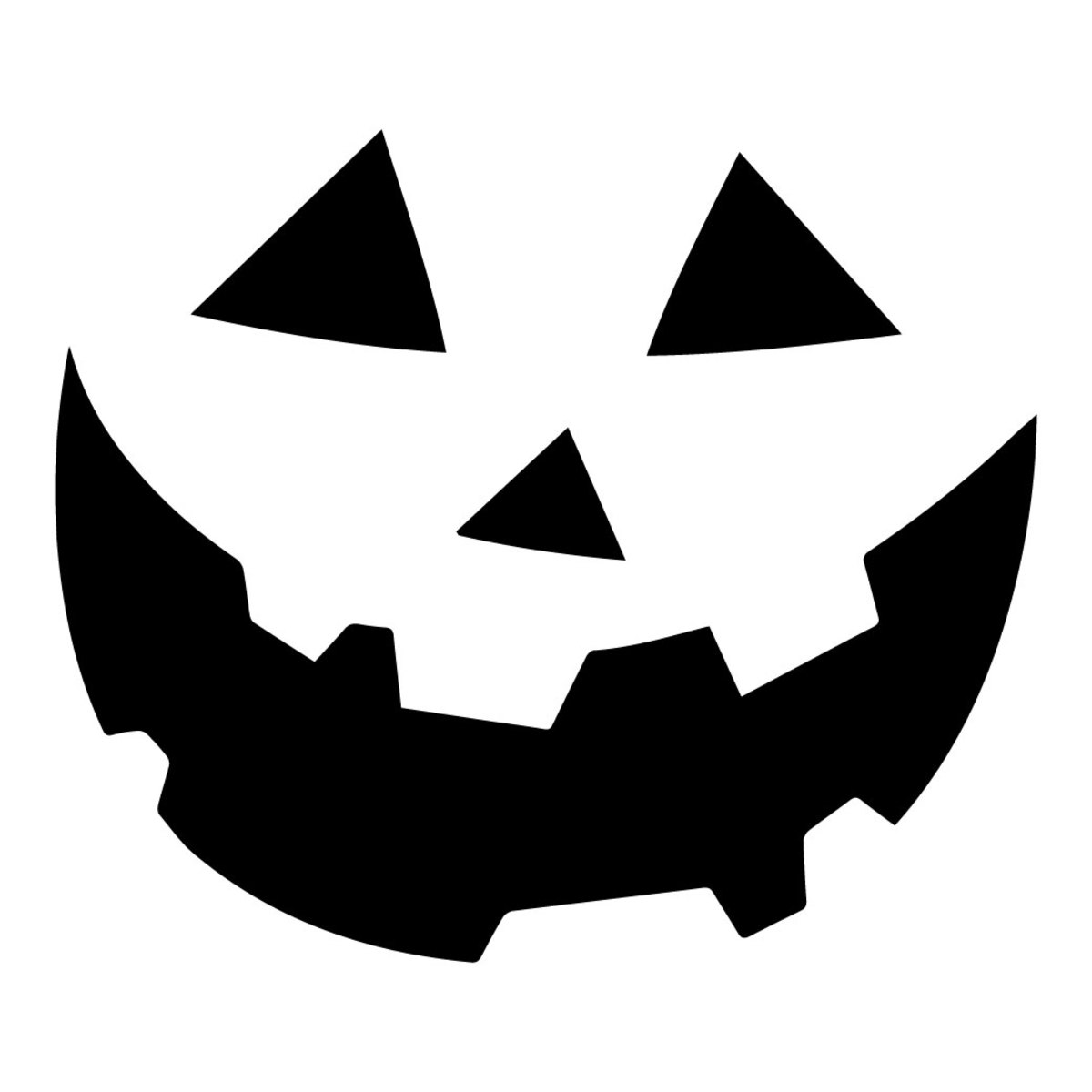 This carving stencil for a traditional smiling pumpkin face is perfect for beginners.