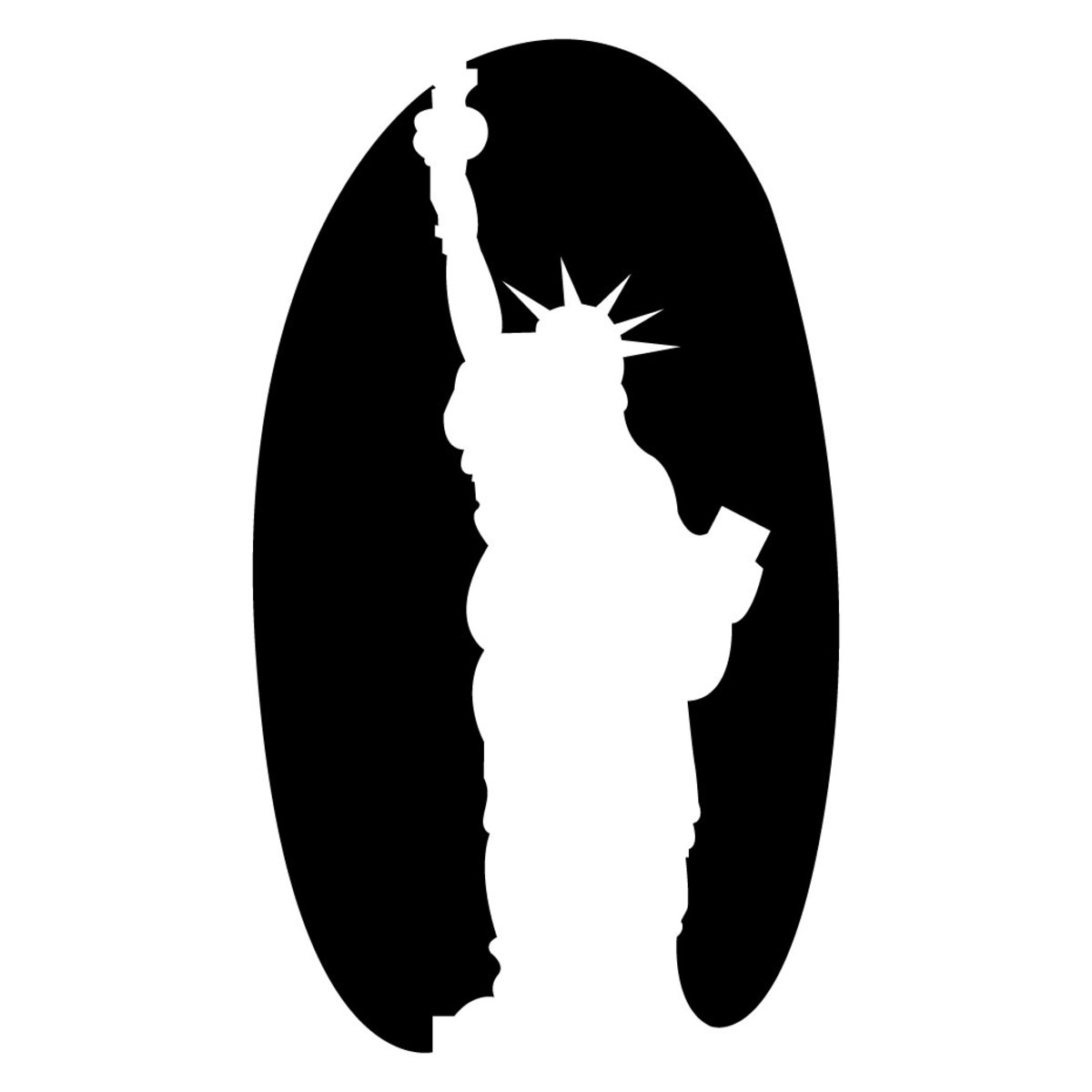 For a USA-themed jack-'o-lantern, use this Statue of Liberty pumpkin-carving template.
