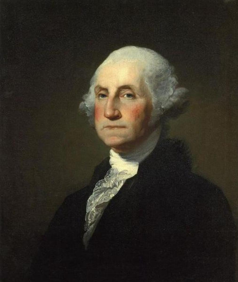 Portrait of Gilbert Stewart and Rembrandt Peale  (Public Domain photo courtesy of WikiPedia.org http://en.wikipedia.org/wiki/File:Gilbert_Stuart_Williamstown_Portrait_of_George_Washington.jpg )