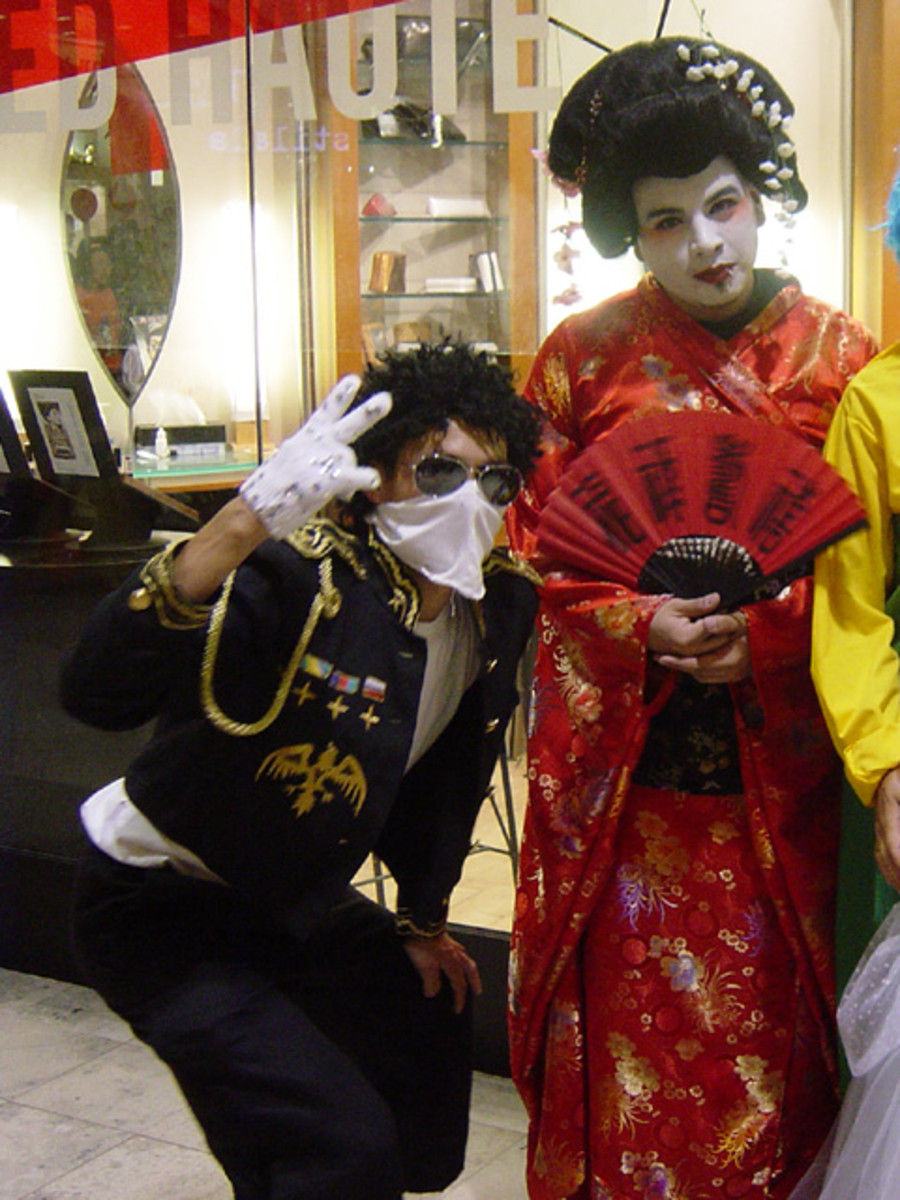 Michael Jackson and a Geisha.