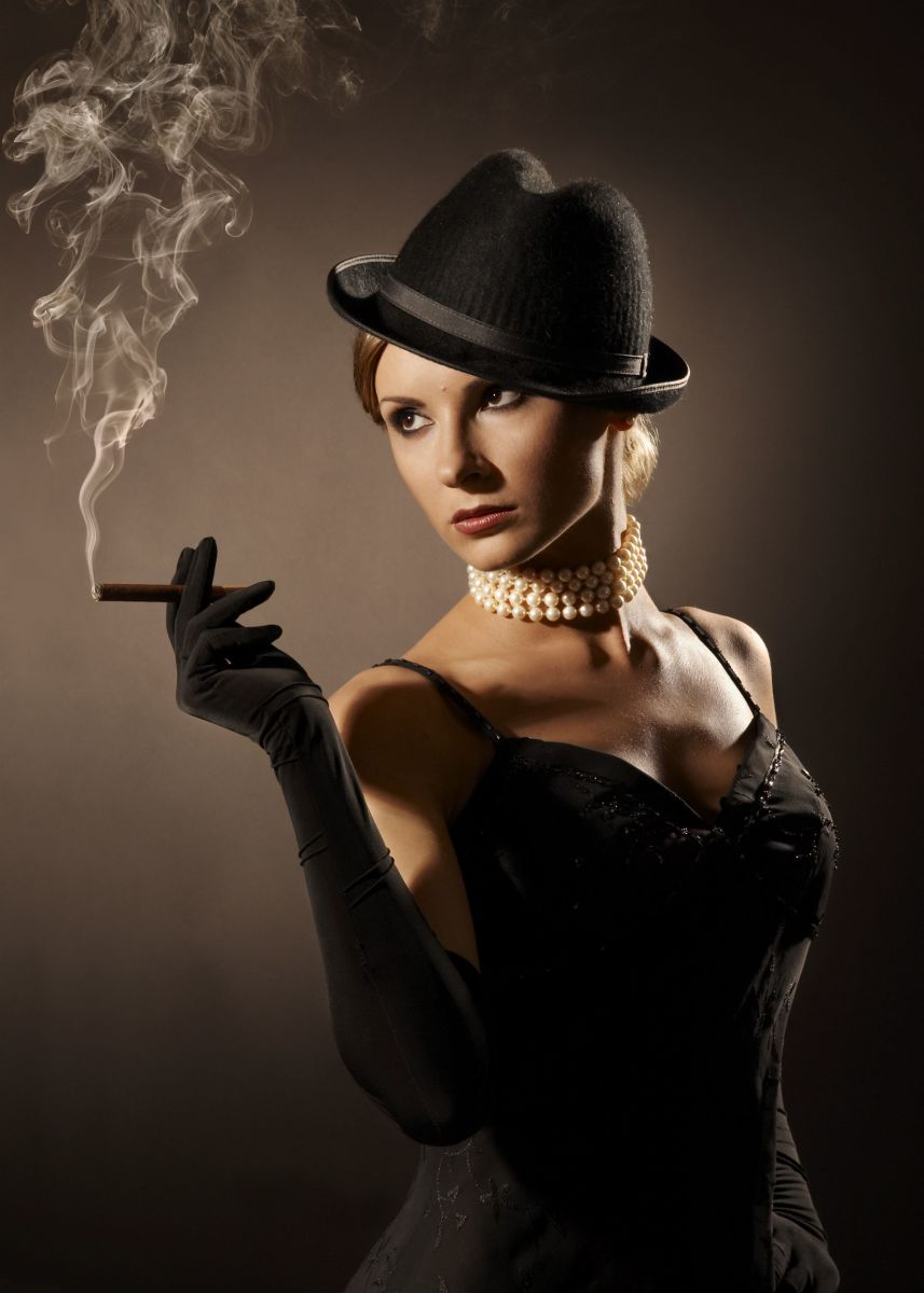 The Femme Fatale Look - You might want to Reconsider the Cigarette!