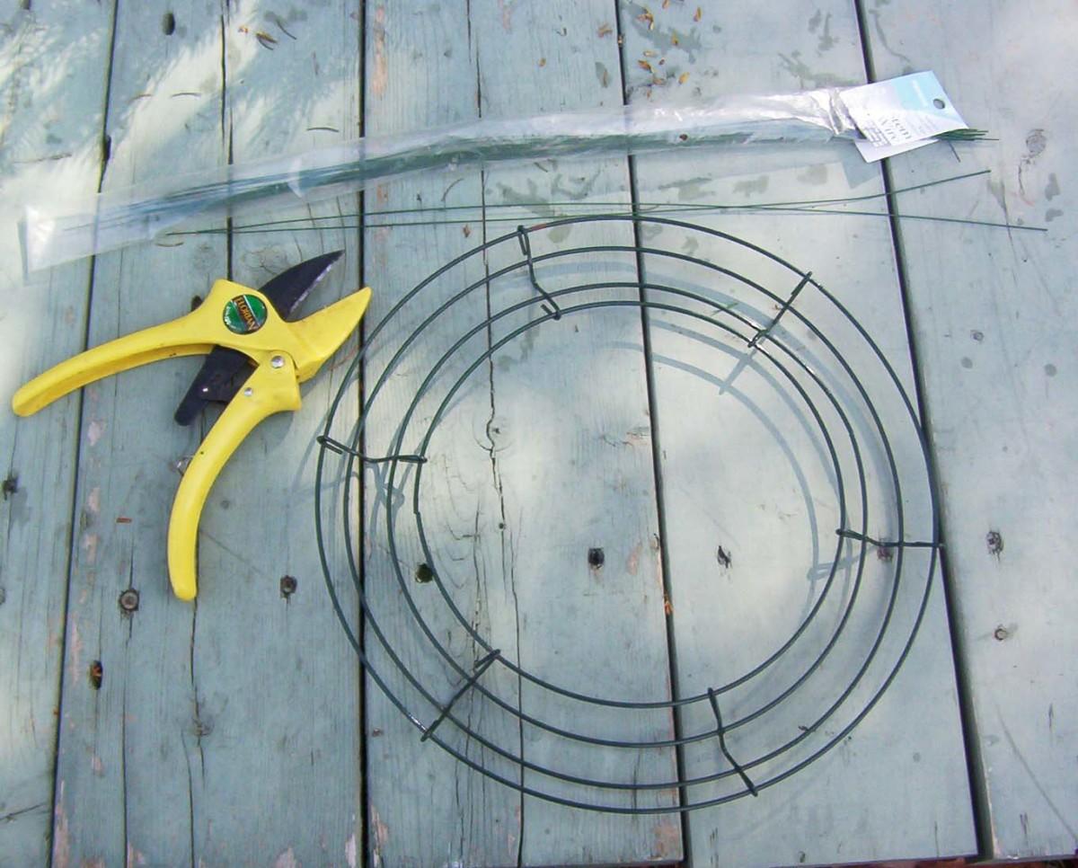 The Framework for a DIY Wreath