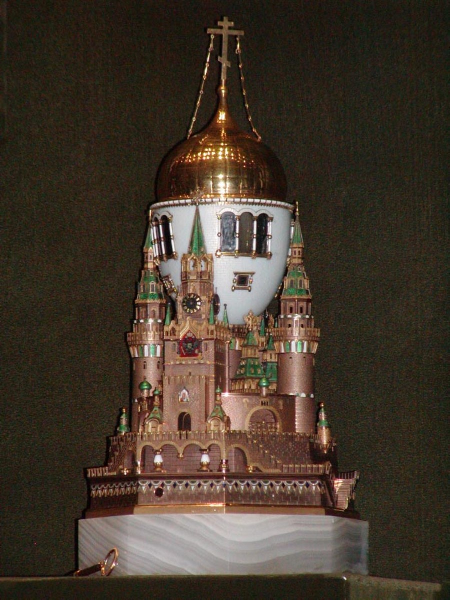 Photo of Moscow Kremlin Egg, taken August 2003