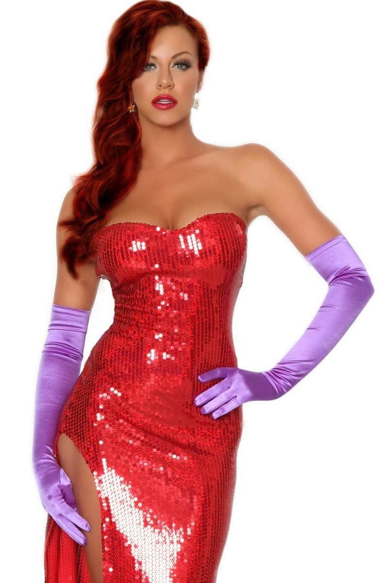 Jessica Rabbit or vamp dress costume