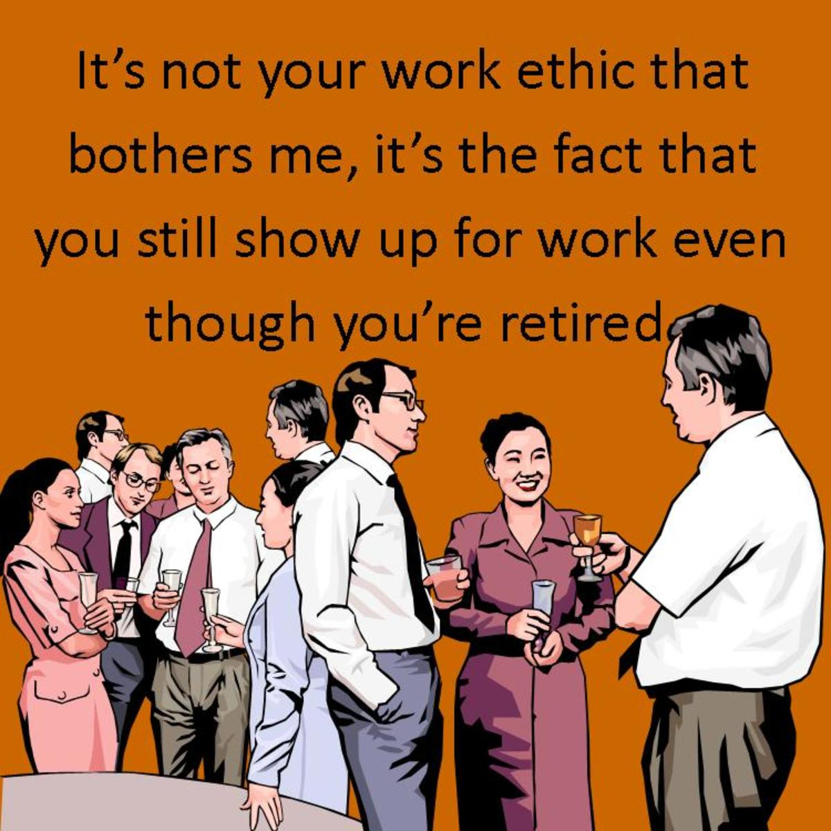 Funny retirement messages can be appropriate, but be careful. Avoid offending the retiree.