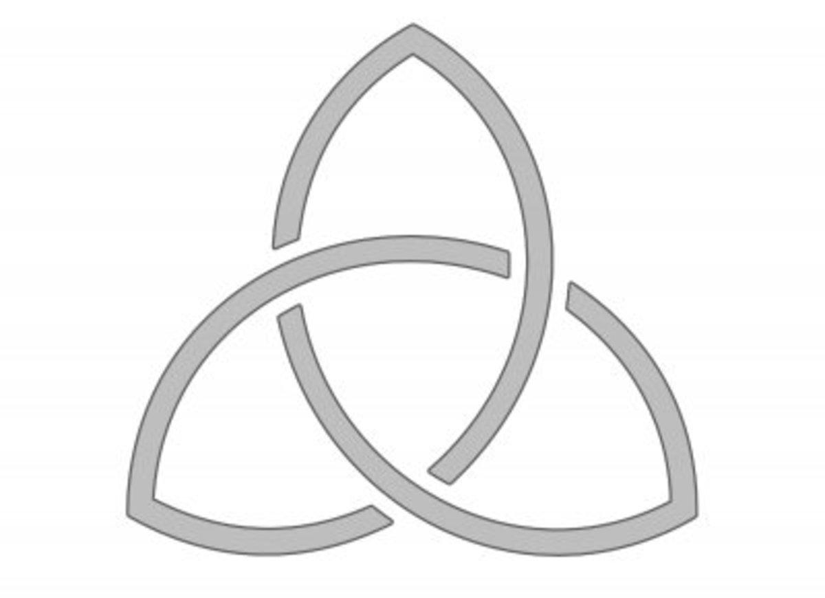 Trinity Symbol stencil.