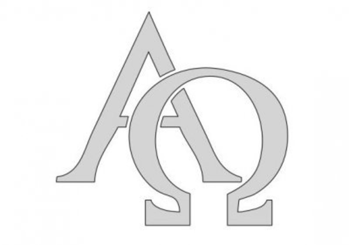 Alpha and Omega stencil