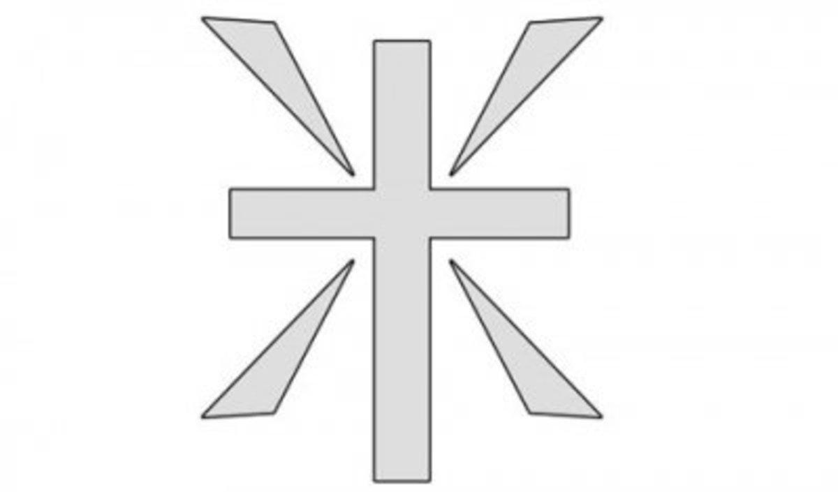 Cross of light pumpkin stencil